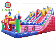 Guangzhou factory outdoor children inflatable slide inflatable jumping castle inflatable bouncer castle