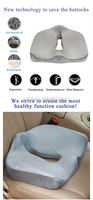 Train or metro driver seat cushion, seat coccyx pillow, bus driver seat cushion