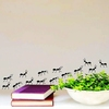 48cm x 12cm Group Ants Pattern Removable Vinyl Wall Sticker for Home Decoration