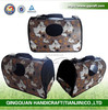 QQPET Factory Pet Supplier Paw Printed Pet Carrier Bag Hot Dog Carrier Cat Carrier