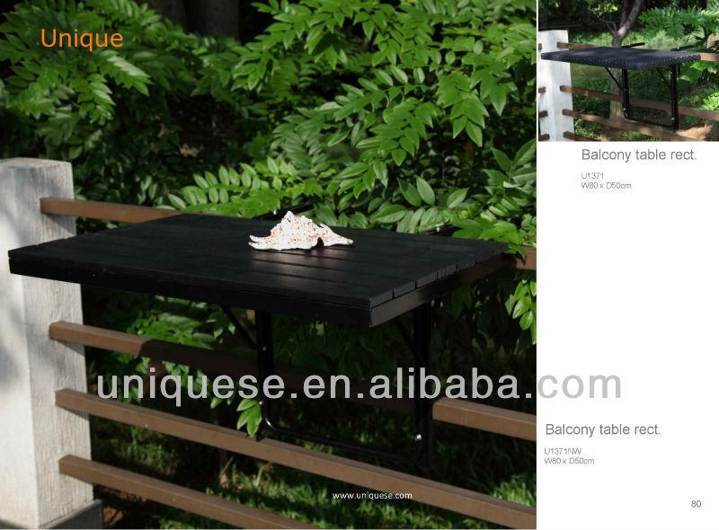 Alumbre mesa plegable de madera artificial para muebles de - Mesa plegable para balcon ...