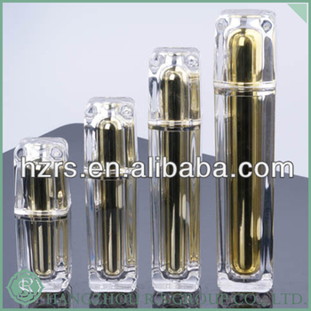 Clear empty acrylic cream bottle for cosmetic