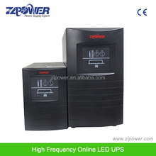 1kva 2kva 3kva high frequency pure sine wav online double conversion ups