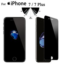 Suodi wholesale 9h 2.5D anti-spy privacy screen protector for iPhone 5s 6 6s 7 7 plus tempered glass