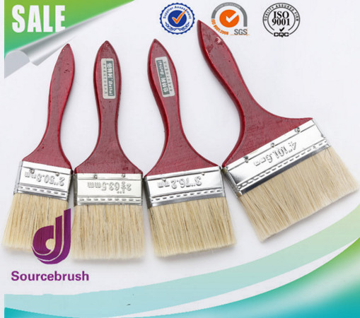 Pure nylon eagle brand wooden bristle handle paint brush with high quality