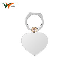 Unique heart shaped hand mobile phone finger holder
