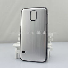 Brushed aluminum protective shell Hard Case for Samsung Galaxy S5 i9600