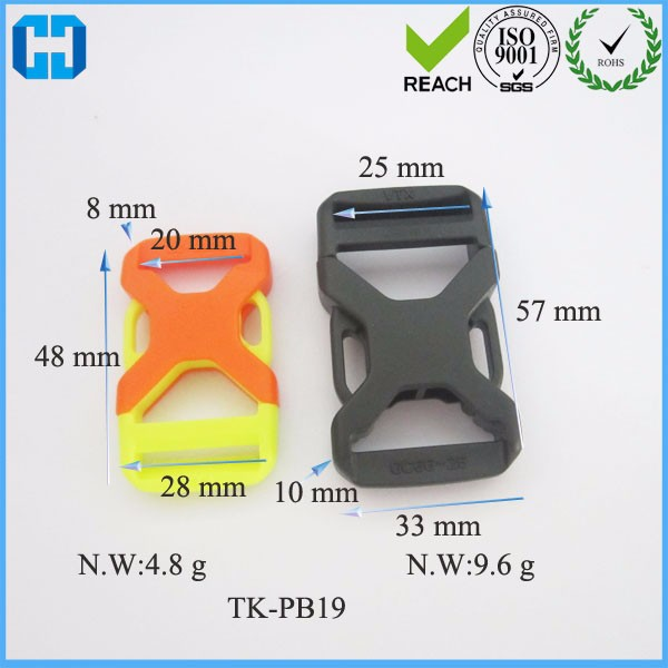 China Supplier Dual Adjustable Side Release Plastic Buckles Wholesale