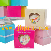 decorative paper box for cake with window