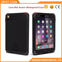 Love Mei Armor AluminumWaterproof Case for iPad Air 1 Air 2 Retina Fundas Shell Housing Water/Dirt/Shock/Rain Proof for iPad Air