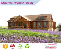 on salelow cost good design prfeb wooden villa manor log house KPL-031