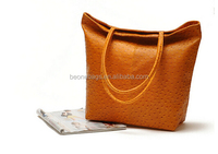 2015 hot trent cheap pu leather ladies handbag tote bag
