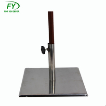 Square Metal adjustable outdoor garden oil lamp garden Torch Stand