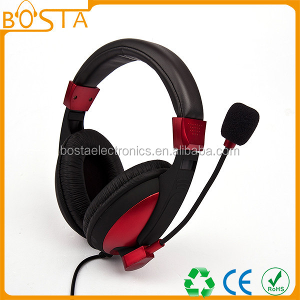 Fashion design hot studio red and black headset for computer