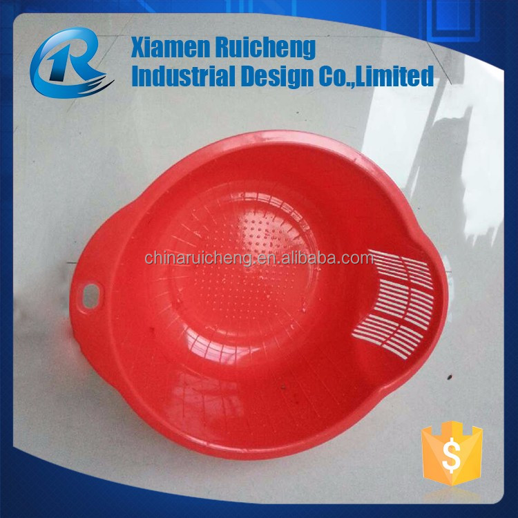 Professional manufacturer plastic red vegetables bowl injection molding supplier