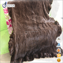 Hot Sale Factory Price Real Mink Fur throw blanket hand knitted blanket throw For Accessories