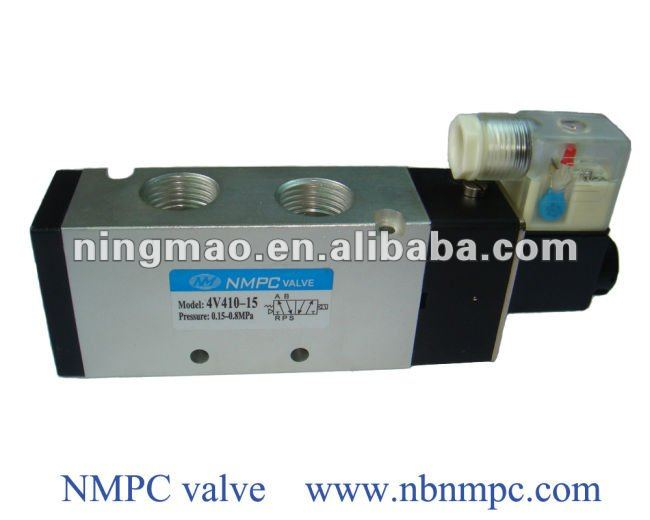 "electric solenoid water valve of 4V410-15 ,air, G1/2"", 5/2 way"