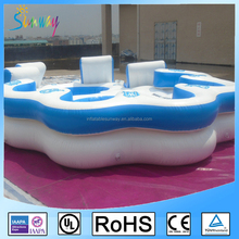 Inflatable Floating Island For Sale 6 Person Inflatable Water Floating Island
