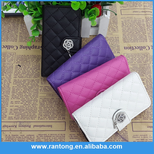 New product top sale diamond wallet case for iphone 6 in many style