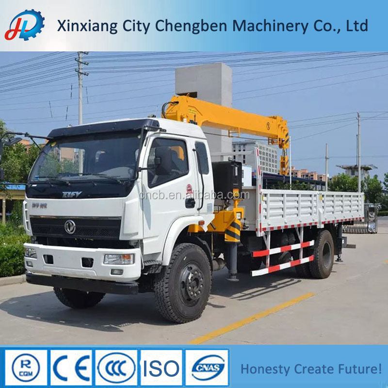 Mini Truck Mounted Crane Cargo Truck with Boom 3 tons for Sale