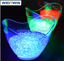 Custom LED Lighted Ice Bucket Clear Plastic Ice Buckets with Logo