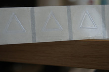 Warning diamond and Hazard Labels/embossed triangle tactile warning labels