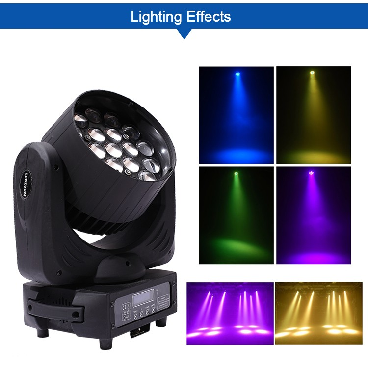 Aiweidy Beam+Zoom+Wash 19*15w 4in1 led moving head stage lighting