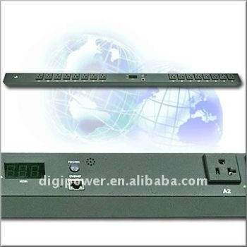 24 ports 30 amp IP PDU- Switched/Monitored 115v outlet with remote control