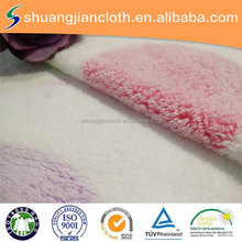 super soft circle pattern design offset printing coral fleece fabric for bedding