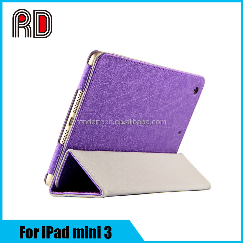 New For iPad mini 3 Magnetic PU Leather Case Smart Cover Stand