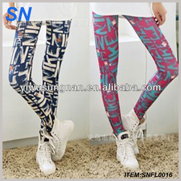 Latest Design Promotion China Custom Manufacturer Bohemi Street Fashion Graffiti Women leggings