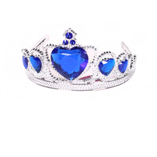 princess big heart acrylic diamond kids cosplay birthday party tiara Crown for girl