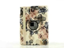 Newest colorful peach blossom rotating stand tablet protective leather sleeve for mini 4