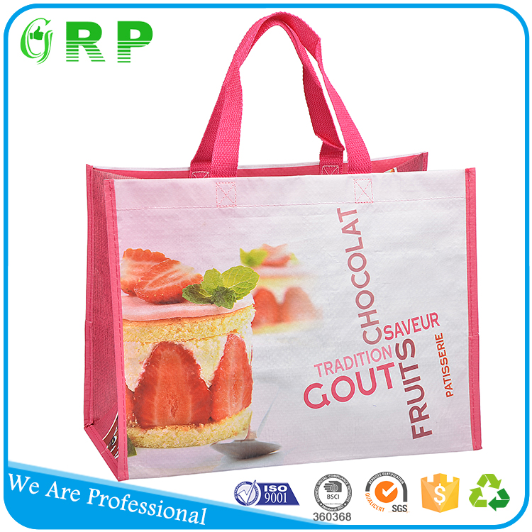 Hot selling customized promotion reusable promotional shopping bag lamination