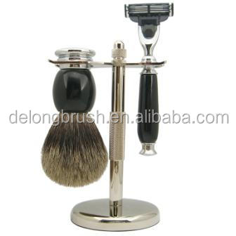 3 Pieces Shaving Brush Set