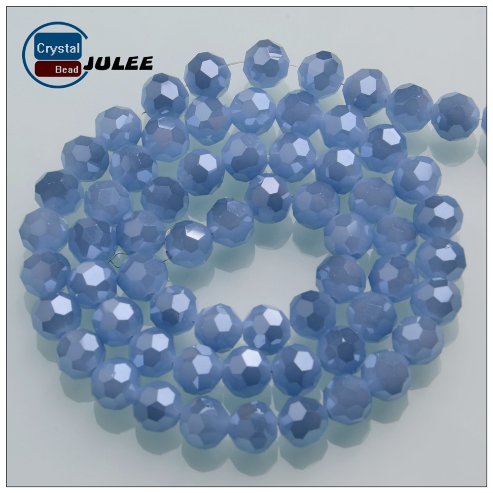 AAA quality latest design beads necklace 32 faceted crystal beads yiwu factory round glass beads strands