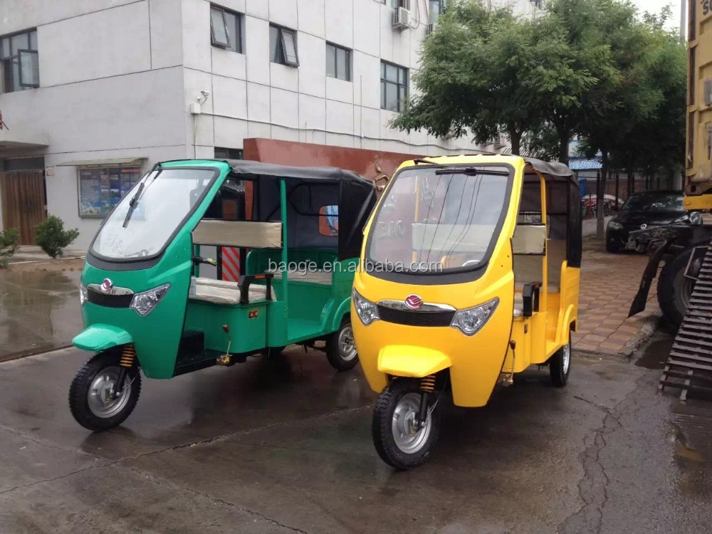 Electric passenger tricycles/electric rickshaws with three wheel