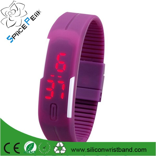 2016 Sport LED Watch Candy silicone led watch digital touch pulsera reloj silicona led