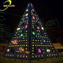 Holiday lighting fluorescent christmas tree