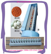 small scale semi automatic durable nylon brush chicken egg cleaning machine duck goose egg washing machine with factory price