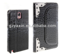 New style hot-sale diamond leather case for samsung note3,diamond crystal rhinestone case for samsung galaxy