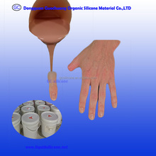skin like material rtv2 liquid silicone rubber for Prosthetic toes casting