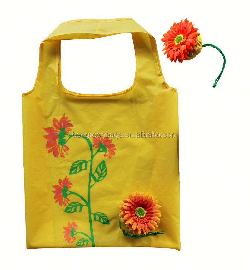 Fashion flower design bulk reusable shopping bags