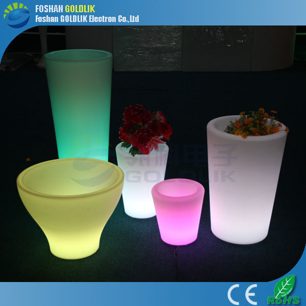 Home Veranda Drainage Color Changing Glow Flower Pot