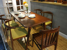 Modern High End Restaurant Wood Table and Chair Furniture