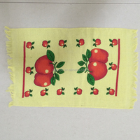 home textiles cheap 100% cotton pear, apple, grapes pattern custom printed kitchen towel
