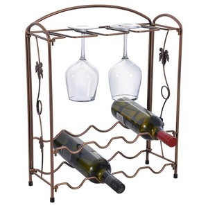 Multifunctional Table Metal Wine Bottle Holder With 8 Holders