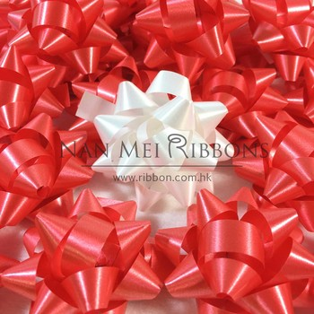 "1.5"" Inch 3.8cm diameter confetti bow making Machine Solid PP Plastic Ribbon Gift Star Bow"