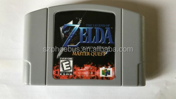 English Language NTSC version Legend of Zelda: Majora's Mask Gold N64 cartridge