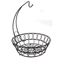 Wholesale Black Wire Fruit Basket with Banana Hanger